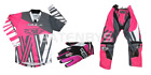 New Wulfsport Pink Kids Motocross Pant Jersy Gloves Bundle Youth Kit Child PW