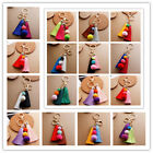 Fashion Multi Color Pompom Ball Tassel Pendant KeyChain Car Bag Charm Accessory
