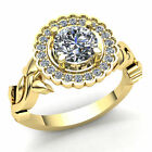 FixedPricenatural 2ct round cut diamond ladies bridal solitaire engagement ring 18k gold