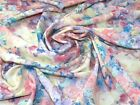 Watercolour Floral Print Polyester Crepe Dress Fabric (MF-S1-1022-M)