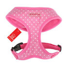 Puppia - Dog Puppy Soft Harness - Dotty w White Dots - Pink - XS, S, M, L