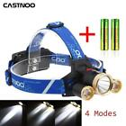 60000 LM T6 3X LED Headlamp Light Rechargeable 18650 Headlight + US Charger MY