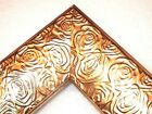 23 Aged Metallic Gold Rose Ornate Wood Canvas Picture Frame Custom Panoramic