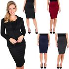 Womens Work Office Business Smart Casual Knee Long Pencil Midi Skirt