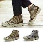 Hot Men Casual Shoes Male Camouflage High Top Flats Outdoor Travel Canvas Shoes