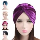 Woman Indian Style Velvet Turban Cap Bandana Chemo Head Wrap Muslim Headscar Hat