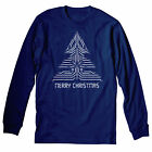 Merry Christmas TECHIE-IT Nerd Geek Funny Holiday-LONG SLEEVE T-Shirt