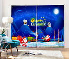 3D Merry Christmas Eve Blockout Photo Printing Decor Curtain Drape Fabric Window