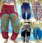 Mens Womens Thai Yoga Pants / Baggy Harem Trousers - Elephant Drawstring Hippy