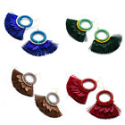 Tassel Bead Feather Women Dangle Earrings for Women Thread Fringe Boho Earrings