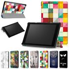 Painted Flip PU Leather Case Cover For 2017 Amazon Kindle Fire HD 10 Inch Tablet