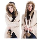Ladies Women Knitted Faux Fur Peruvian Long Tassels Winter Warm Soft Trapper Hat