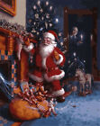"""16X20"""" DIY Paint By Number Kit Paint On Canvas Santa Come Xmas Gift Oil Painting"""