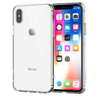 For iPhone X Case Crystal Clear TPU Bumper Shockproof Transparent Cover Shamo's