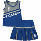 Air Force Falcons Colosseum Youth Girls Co3 Curling Cheer Set Cheer - Royal