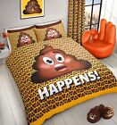 Emoji Yellow Pooh Expressions S*** Happens Duvet Cover Quilt Cover Bedding Set
