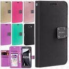 For Samsung Galaxy J3 Eclipse Premium Flip Out Pocket Wallet Case Pouch Cover