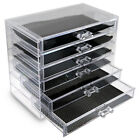 6 Drawer LARGE Acrylic Cosmetic Organizer Makeup Case Holder Jewelry Storage Box