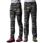 New Soft Shell Sport Trousers Fleece Outdoor Hiking Ski Pants For Male Female