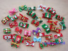 100x New Christmas Styles Dog Hair Bows Pet Dog Grooming Bow Accessories C#7