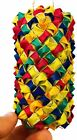 03319 Oblong Woven Foot Bird Toy Parrot Foraging Craft Part talon Cages Chewy