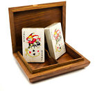 Personalised Pack of Two Playing Card Games Set, Rosewood Storage Box, Engraved