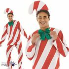Christmas Xmas Adults Mens Candy Man Cane Fancy Dress Costume Novelty Funny New