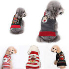 Pet Christmas Sweater Warm Knit Striped Puppy Clothes Xmas Costume for Dogs Cats