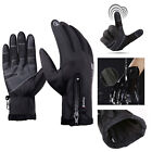 Unisex Adult Winter Thermal Warm Waterproof Anti-slip Riding Touch Screen Gloves