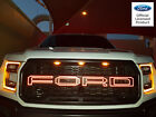 FORD RAPTOR SVT F150 REFLECTIVE GRILLE OUTLINES LETTER VINYL STICKERS 2017 GRILL