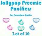 (10) JollyPop Pacifier Preemie Pick Color &/or Scent Baby Soothie Gumdrop Dummy