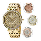 Michael Kors Darci Lady's Plated Stainless Steel Crystal Watch