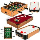 TABLE TOP POOL AIR HOCKEY FOOTBALL FOOSBALL SOCCER FAMILY GAMES TOY XMAS GIFT