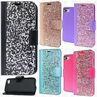Apple iPhone 8 & 8 PLUS Premium Bling Diamond Wallet Case Flip Pouch Phone Cover