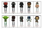 Star Wars 60mm PVC Plastic Paper Clip Bookmark Xmas Gift for Men Women Kids