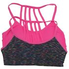 Big Girls Fuchsia Multi Color Back Cage Style Strappy 2 Pc Bralette Pack 7-16
