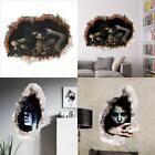 New Halloween decoration Living room bedroom Ghost wall stickers New broken wall