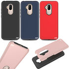 For Alcatel A30 Fierce Brushed Metal HYBRID Hard Rubber Case + Screen Guard