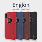 For Apple iPhone X Luxury Englon PU Leather Shockproof Cases Covers Back Nillkin