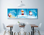 "Santa Gifts Wall Art Picture Decor Canvas Print Painting 16x16""x3pc W/N Frame"