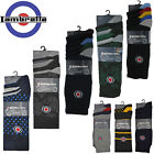 Lambretta Socks Mens Cotton Pairs 3 & 5 Pack MOD Multi Colour Soft UK 6 - 11