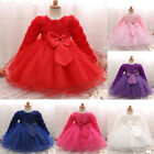 newborn red tutu - Newborn Baby Kid Girl Long Sleeve Princess Tutu Dress Party Wedding Pageant Gown