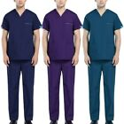 Latest Men Scrub Set Doctor Surgery Uniform Medical Workwear Loose Tops Pants
