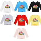 Kids Boy Girl Super Wings Cotton Spring Fall Long Sleeve T-shirt Holiday Tops