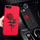 For iphone 6s 7 8 Plus X Luxury Embroidery Rose Flower Soft Silicone Case Cover