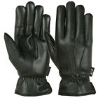 Men Winter Gloves Motorcycle Driving Full Finger Thermal Lining Mittens Leather