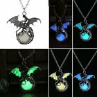 Retro Magic Luminous Steampunk Punk Dragon Glow In The Dark Necklace Pendant US