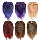 Hair Synthetic Crochet Braids For Woman 12-24Inch 12Roots/Pack Ombre Senegalese
