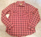 True Religion Shirt Long Sleeve Plaid flannel Men's Canyon Red Size S  NEW
