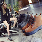 Women's Autumn Winter Martin Boots Casual Boots Locomotive Cotton Shoes Y440